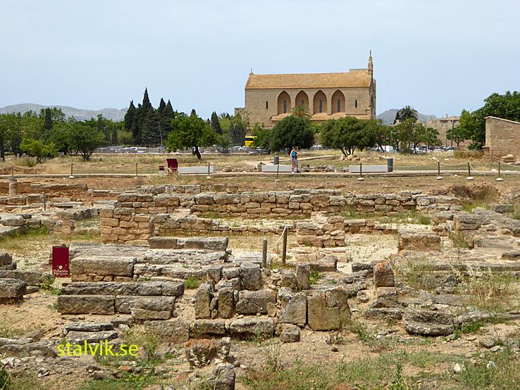 Lämningar efter den romerska staden Pollentia. Alcudia