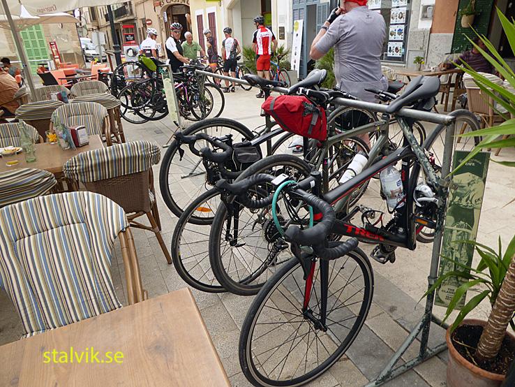 Cykling på Mallorca. Dag 03. Cykelcafé. Petra