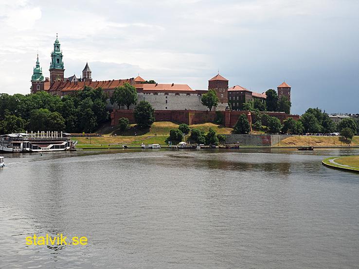 Vy över Wawelslottet. Krakow (U)