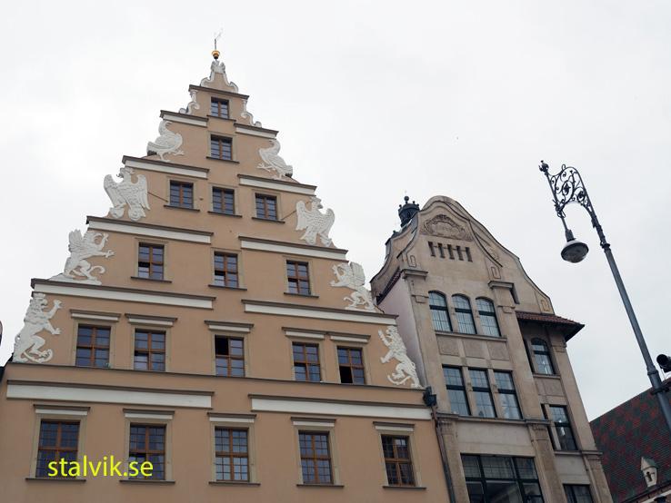 Torget i gamla staden. Wroclaw