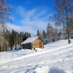 Vinter i Dalarna. Ulriksberg