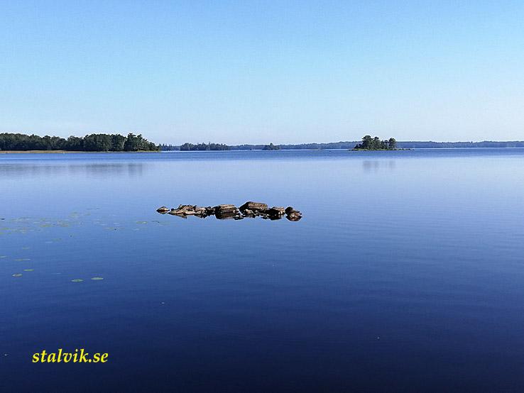 Vederslöv - Urshult. Sjön Åsnen