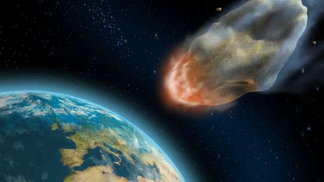Ilustrasi asteroid. (Shutterstock)