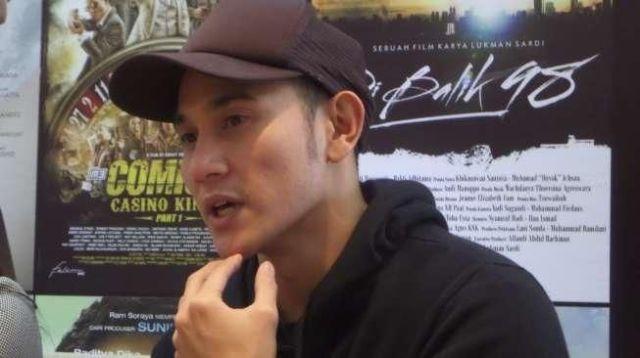 Aktor Vino G Bastian. [suara.com/Ismail]