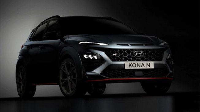 Desain futuristik tampak pada haluan Hyundai Kona [Hyundai via ANTARA].