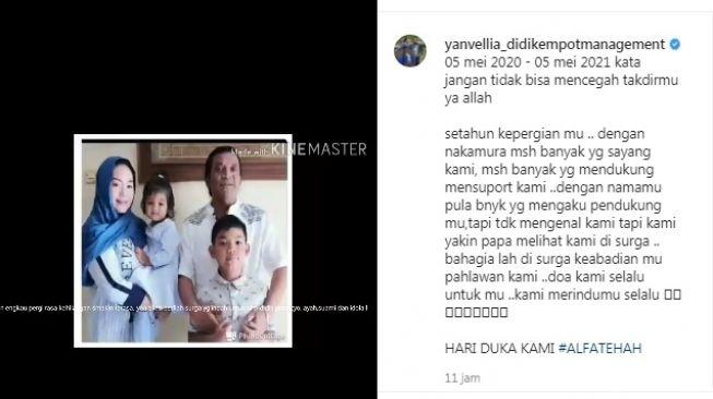 Unggahan istri Didi Kempot, Yan Vellia [Instagram/@yanvellia_didikempotmanagement]
