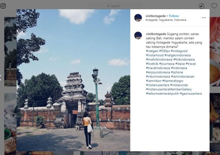 Bangga, Yogyakarta Masuk Daftar Kota Terindah di Asia Berkat Kotagede. (instagram.com/visitkotagede)