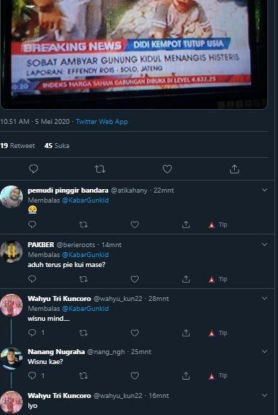 Sobat Ambyar Asal Gunungkidul Menangis Histeris Netizen Namanya