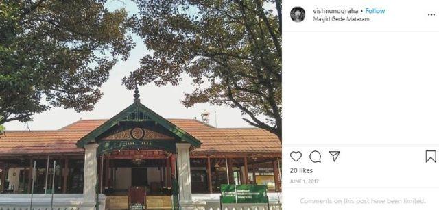 Masjid Agung Kotagede. (Instagram/@vishnugraha)