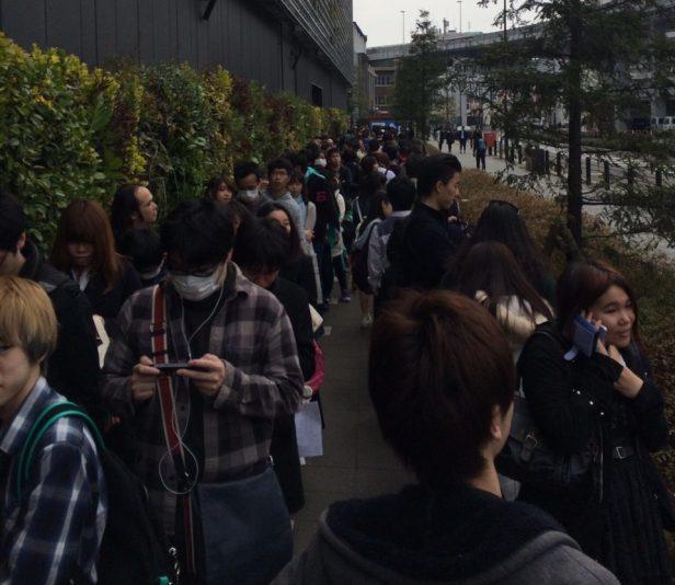 Det är OK att köa i Japan, alla gör det!