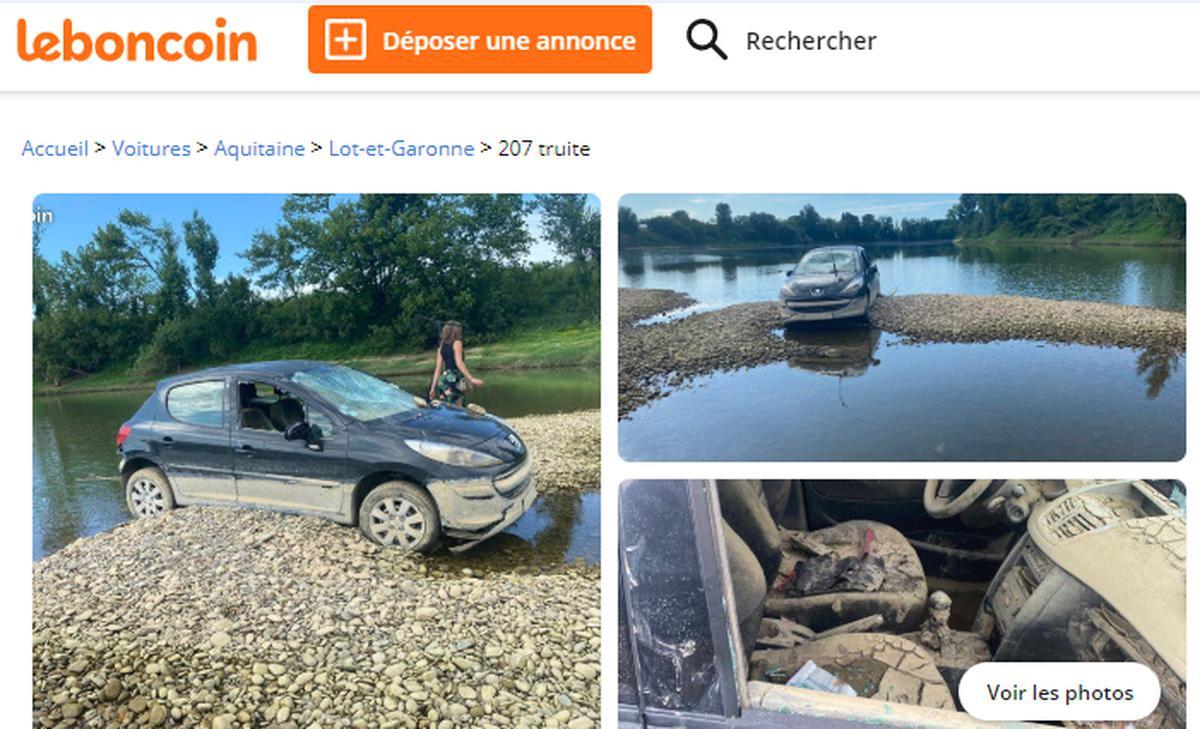 Insolite La Voiture Echouee Dans La Garonne A Tonneins Mise En Vente Sur Internet