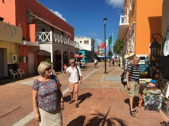 Vandring på gatorna i Cozumel