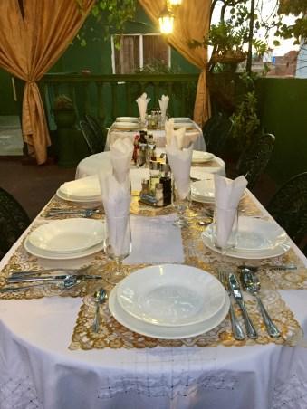 Middag på terrassen hos Elisabeth i Trinidad