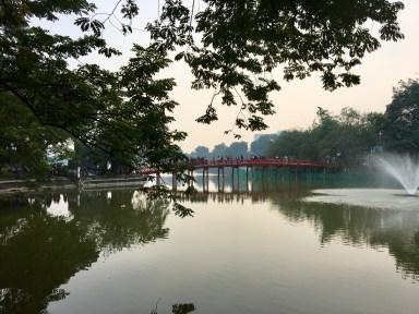 The red bridge i Hanoi