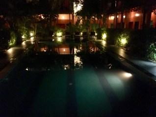 Vårt hotell om kvällen