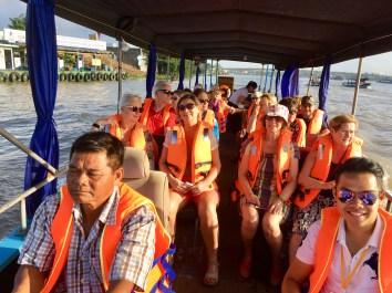 Båttur i Mekongdeltat
