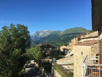 Utsikt från vårt boende i Monte Monaco