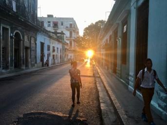 Vår gata tidig morgon