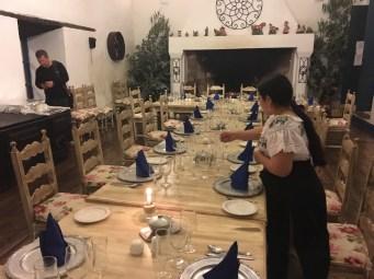 Middag i Otavalo på hacienda
