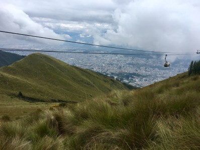 Quito från 4.000 meters höjd