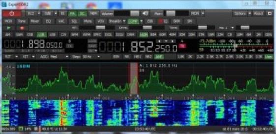 SunSDR2 screen shot at SE0X in CQ-160 SSB 2015.