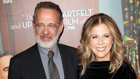 Tom Hanks with wife Rita Wilson