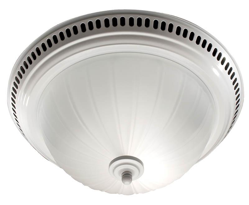 white bath fan light combo