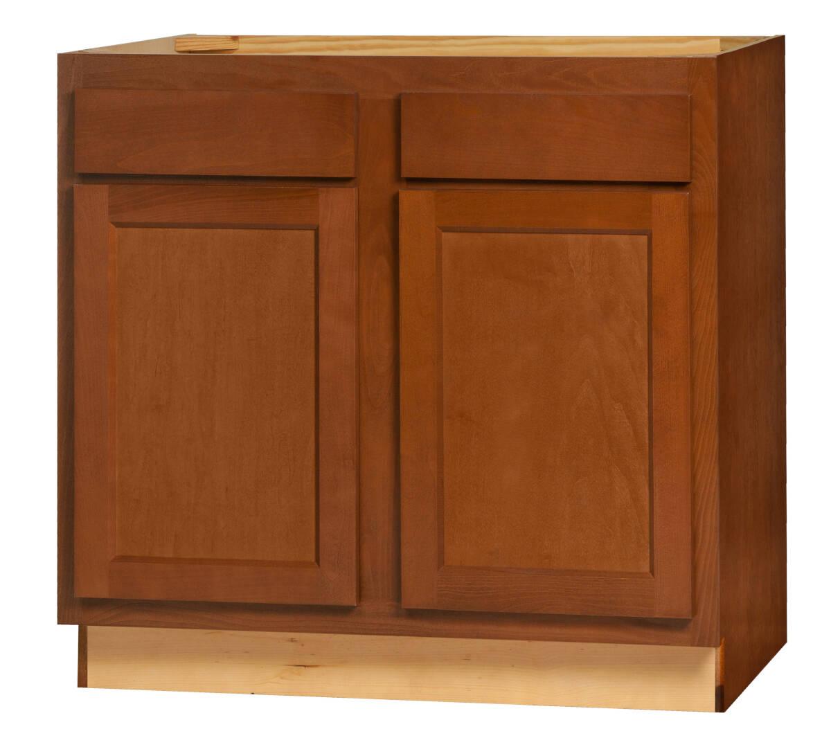 36 x 34 1 2 x 24 inch glenwood dark chocolate range and sink base cabinet