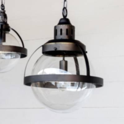 large bistro globe pendant light