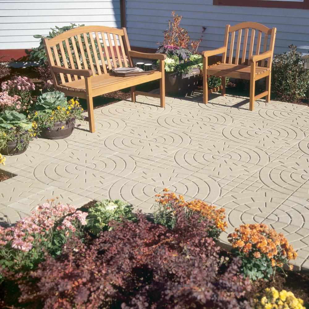 16 inch square buff bellacobble patio stone