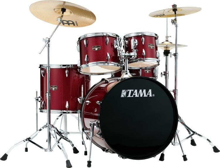 Tama Imperialstar Complete Drum Set   5 piece   22  Kick   Candy     Tama Imperialstar Complete Drum Set   5 piece   22  Kick   Candy Apple