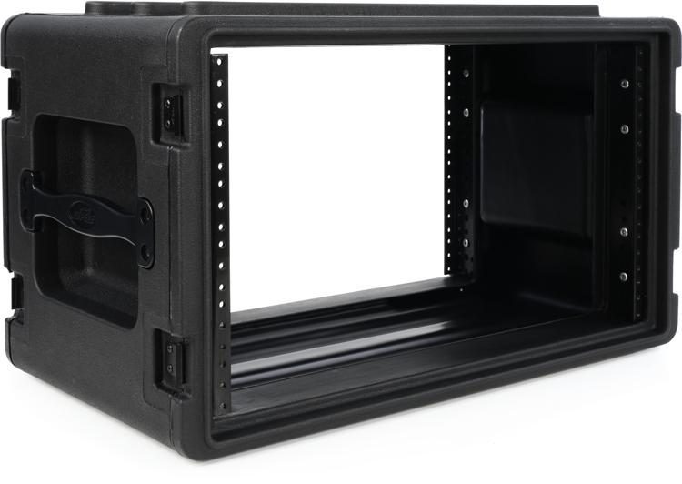 1skb r6s roto molded shallow 6u rack case