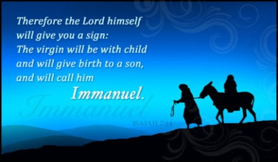 Free Isaiah 714 ECard EMail Free Personalized Scripture