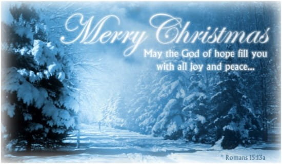 Romans 1513a ECard Free Christmas Cards Online