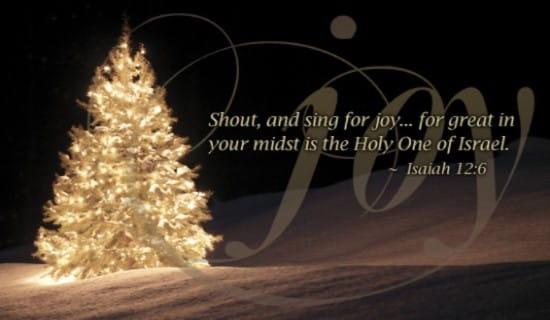 Isaiah 126 Joy ECard Free Christmas Cards Online