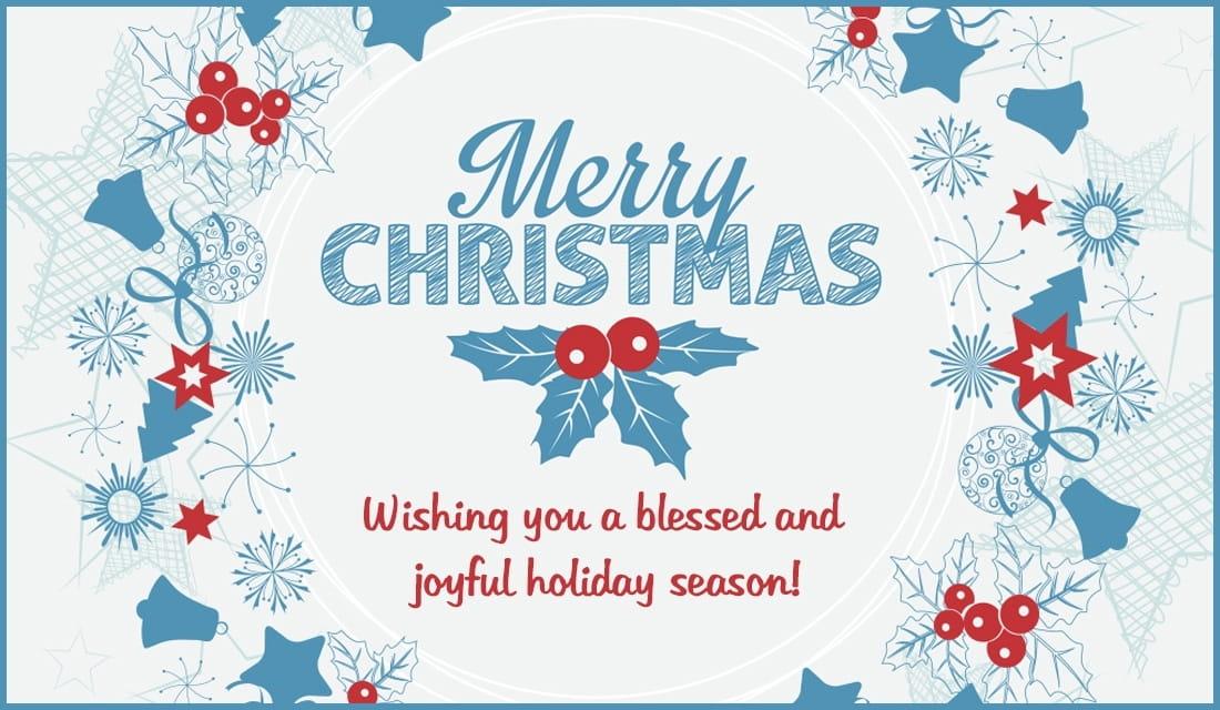 Wishing You Blessed Holiday Season ECard Free Christmas