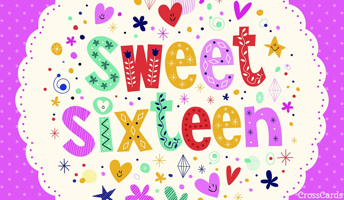 Free Sweet Sixteen Ecard Email Free Personalized Birthday Cards Online