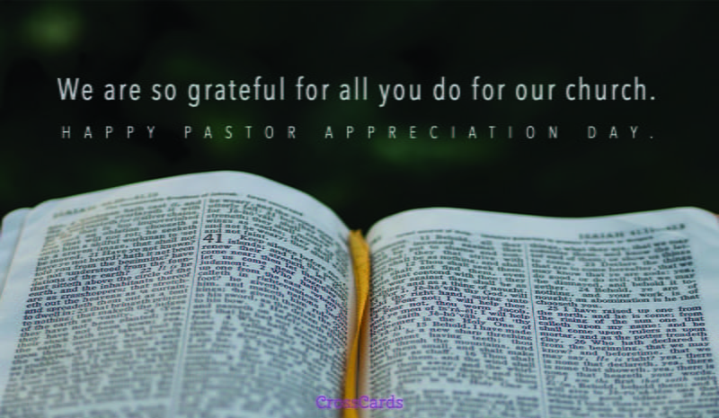 Free We Are So Grateful For You ECard EMail Free Personalized Ministry Appreciation Cards Online
