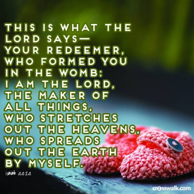 Formed by the Lord in the Womb