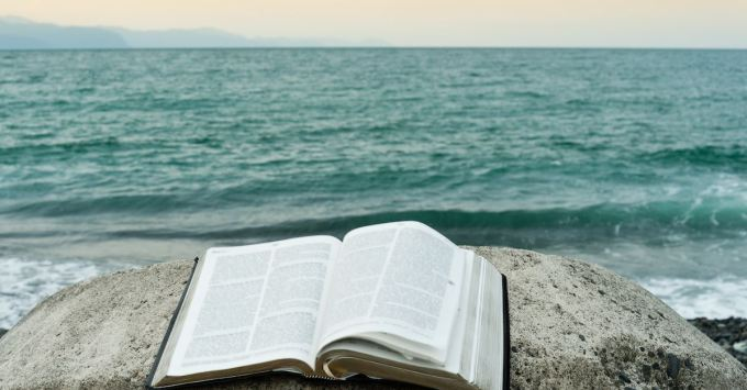 bible, sea