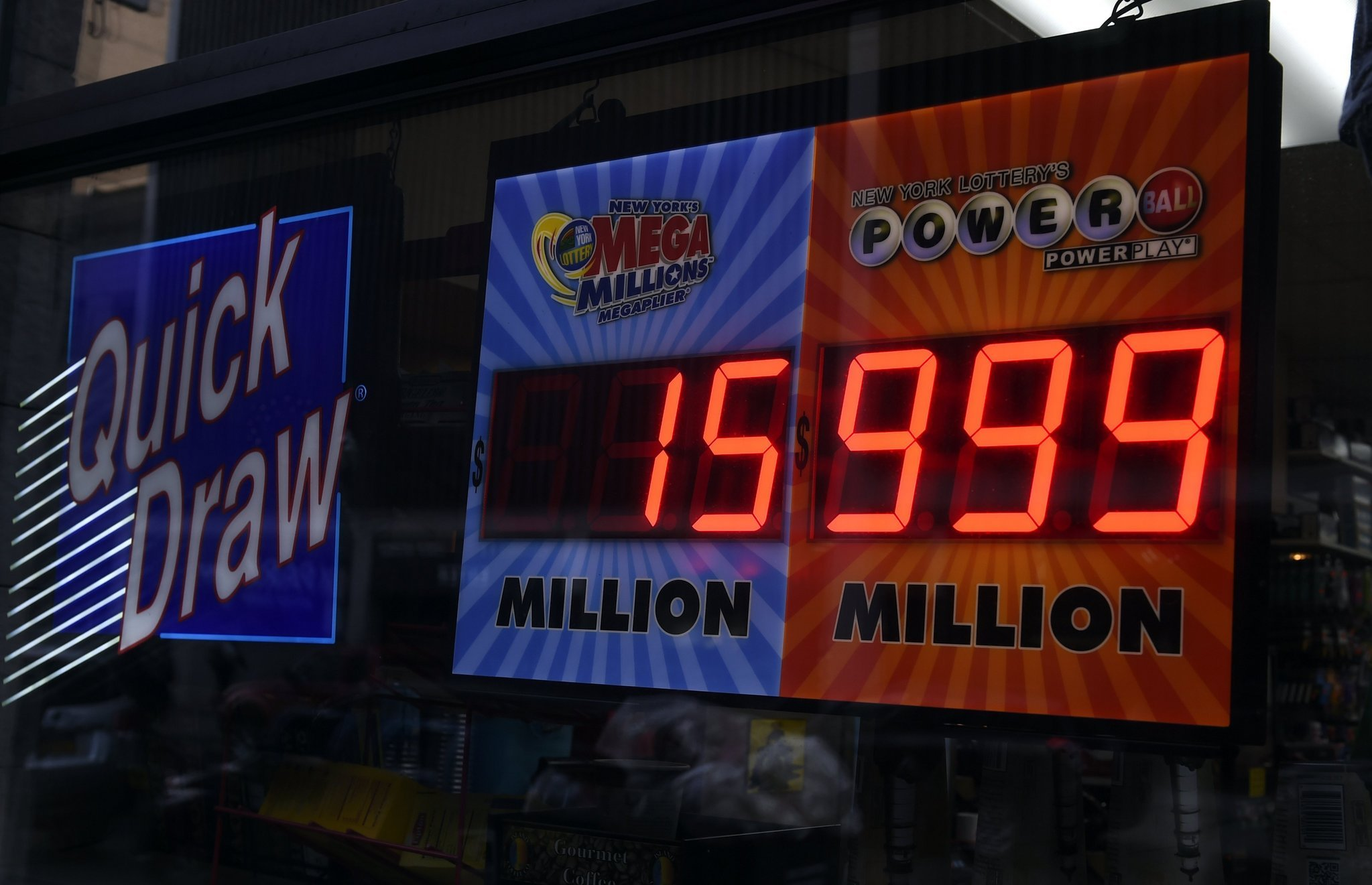 Image result for lottery signs ny -alamy
