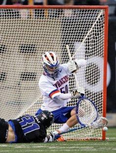 Syracuse Lacrosse goalie save