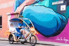 Adelaide 90-Minute Pedicab Tour: Street Art Experience