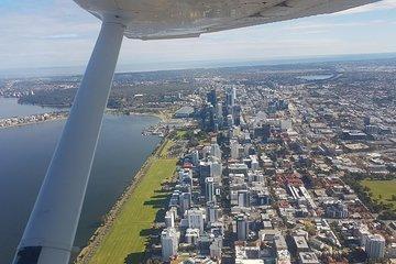 Perth Scenic Flight - City River and Beaches