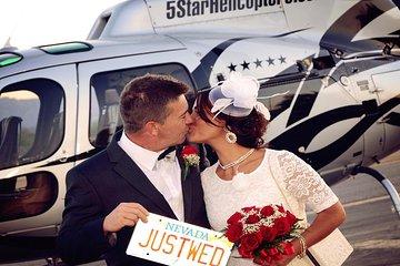 Las Vegas Night Flight Helicopter Wedding Ceremony
