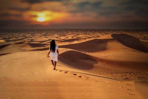 Muscat to Wahiba Sands, Wadi Bani Khalid Full-Day Desert Tour 2021