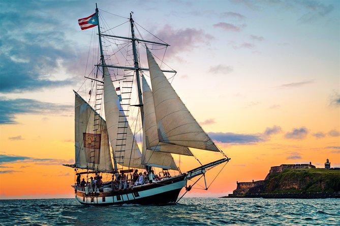 Old San Juan Sunset Sail on 19th-Century Style Schooner 2020