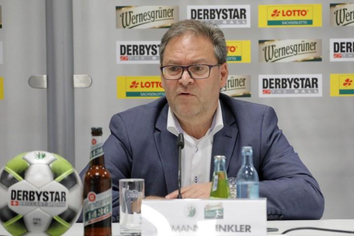 Saxony's soccer boss Hermann Winkler.