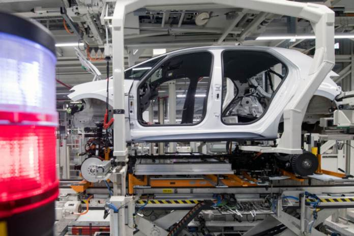 The body of the VW ID.3 is assembled in the Volkswagen Sachsen plant in Zwickau.