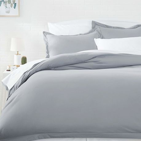 wrinkle resistant luxury hotel duvet cover set super king size light grey